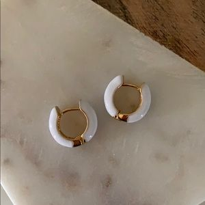 BOGO! White Huggie Earrings